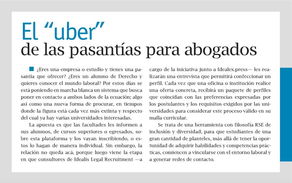 el uber de las pasantias