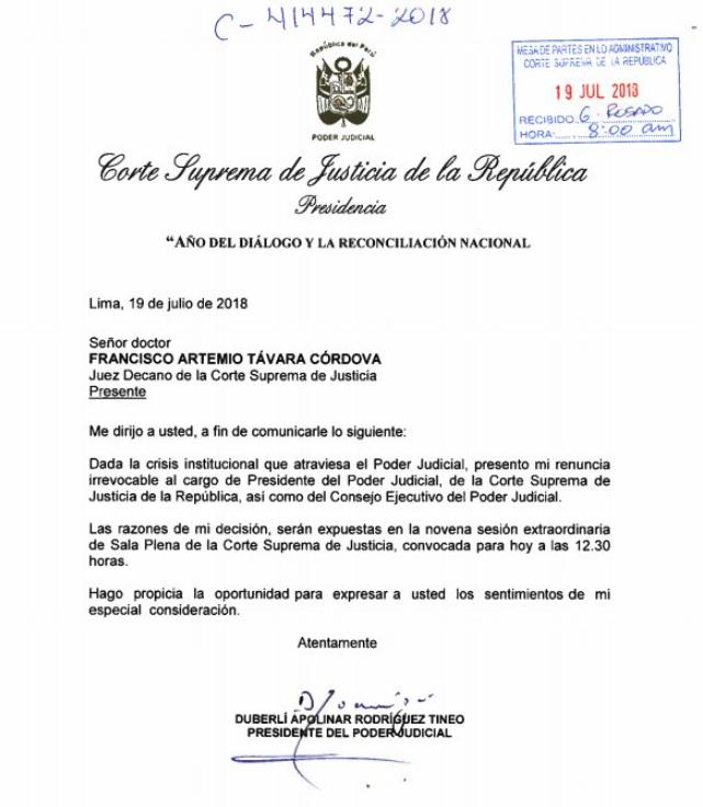 Cuenta Twitter Poder Judicial de Perú