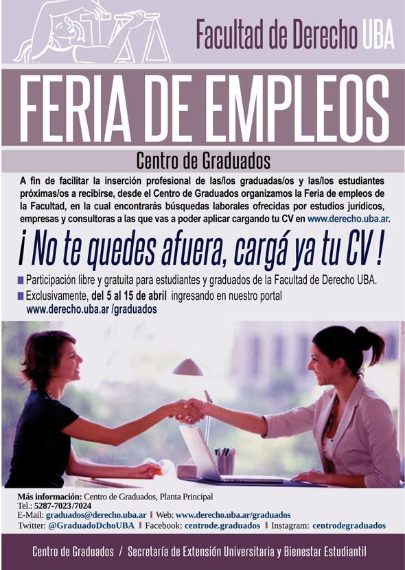 Feria de empleos Facultad de Derecho UBA