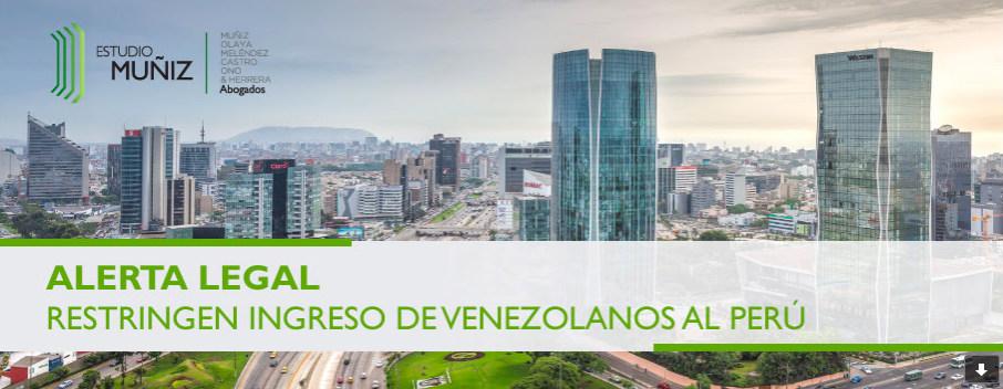 restricción a los venezolanos para entrar a Perú