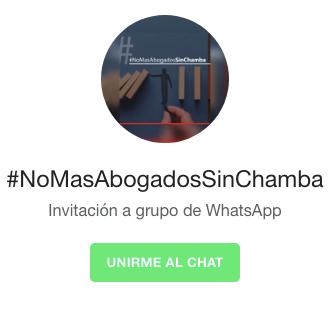 #nomasabogadosinchamba