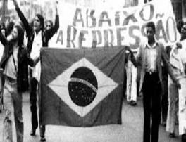 Inestabilidad política: Imagen de una protesta en Brasil